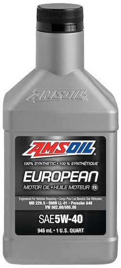 European Car Formula 5W-40 Classic Emissions System Protection Synthetic Oil