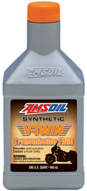 V-Twin Transmission Fluid. Full synthetic oil promotes quite operation