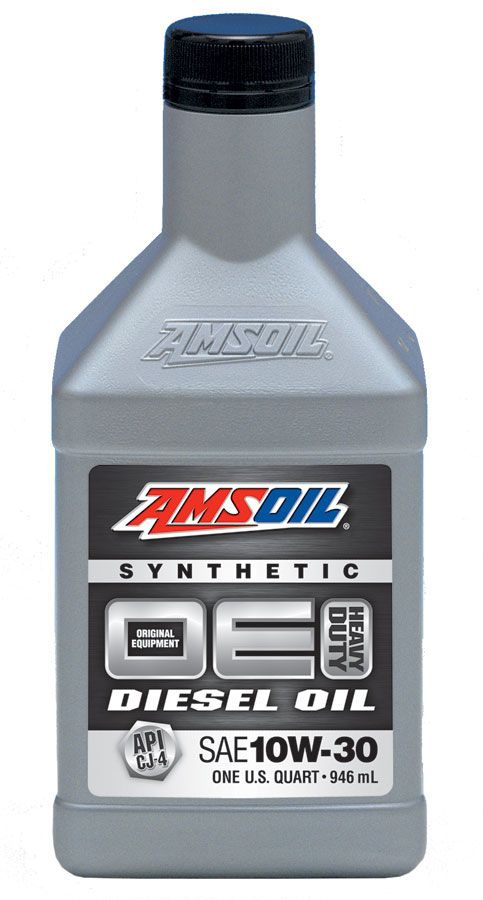 Amsoil oe 10w 30 synthetic diesel oil oec for Motor oil api rating
